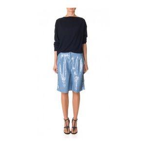 NWT Blue Tibi Allover Sequins Shorts 0